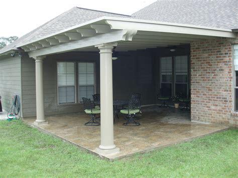 covered patio using snap n lock panel roof circular