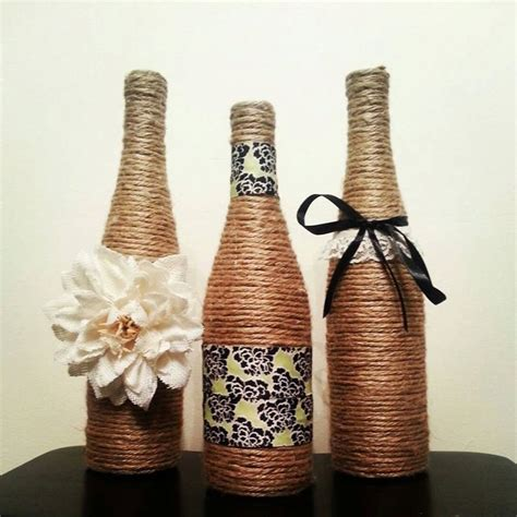Decorative Wine Bottles by Wine Bottle Decor Set Of 3 Bottles