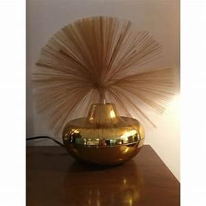 Vintage Fantasia Alpha Rotating Fiber Optic Table Lamp
