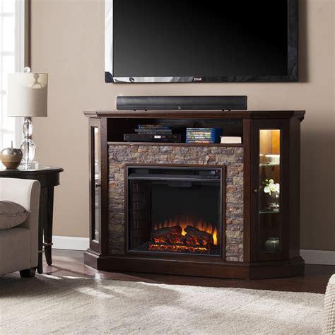 redden corner convertible electric media fireplace