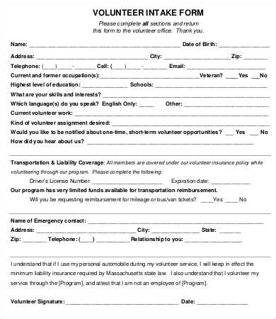 Student Intake Form Template by Intake Form Template 10 Free Pdf Documents