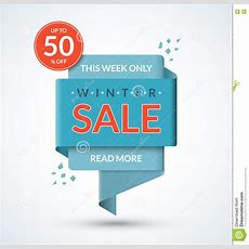 Winter Sale Banner Discount Label Stock Vector  Image 81890656