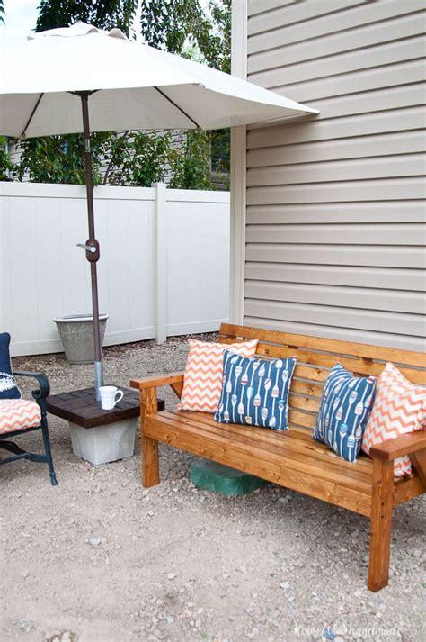 slatted outdoor sofa build plans  houseful  handmade