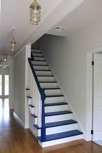 awesome couleur escalier en bois ideas joshkrajcikus With peindre escalier bois en blanc 2 relookage escaliers atelier couleur et bois