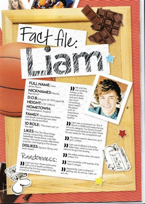 Fact file - LIAM PAYNE | One direction photos, One ...