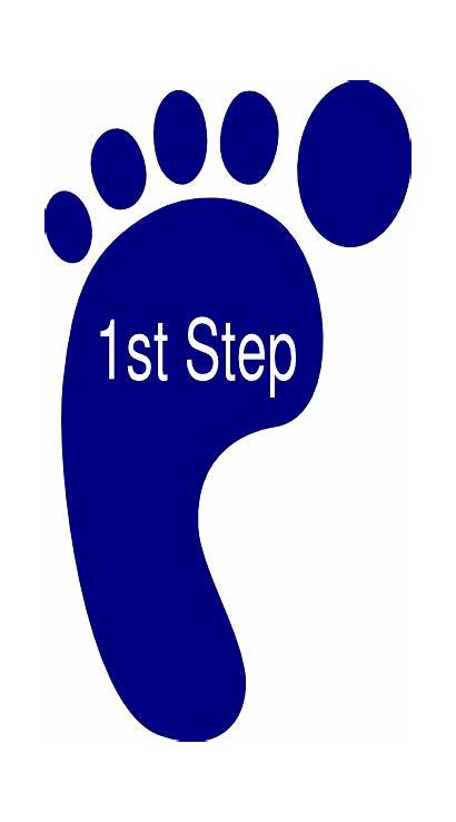 Step Clipart Clip Foot Right Cliparts Steps