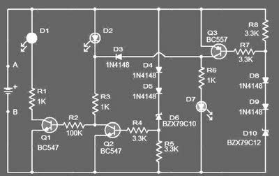 Volt Car Battery Monitor Circuit Amplifier