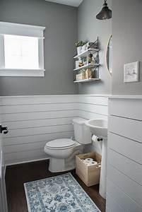 Fresh Modern Powder Room Reveal DIY HOUSE BEAUTIFUL