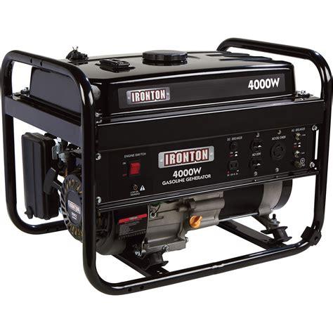 Generator Tool ironton portable generator 4 000 surge watts 3 200