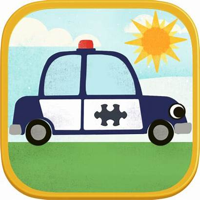 Jigsaw Puzzles Games Cartoon Police Truck Vehicle