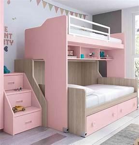 lit superpose fille coulissant et pratique glicerio so With tapis chambre bébé avec prix canape lit conforama