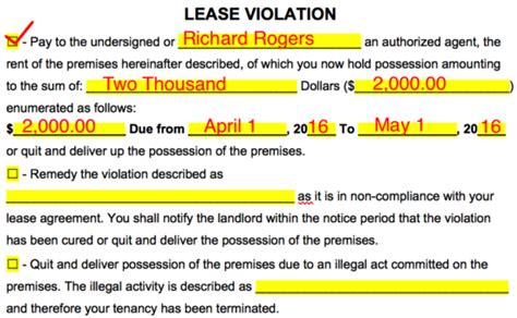 nj notice to quit form free new jersey notice to quit notice to cease