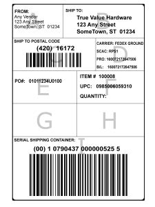 Field lengths are shown for asn label printing purposes only and may be shorter than the actual field length in any respective asn or mits tables. 34 Ucc 128 Label Template - Labels For Your Ideas