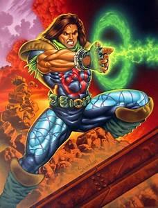 Rictor. He's kinda cute. Cool leggings... | Fleer Ultra X ...