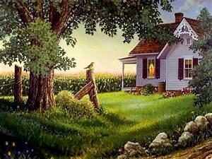 Country Spring Desktop Wallpaper