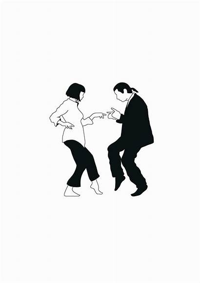 Pulp Fiction Dance Dancing Poster Minimalist Mia