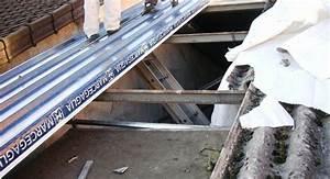 Renovation Toiture Fibro Ciment Amiante : travaux de couverture en bac acier pour un entrep t paris la maison des travaux ~ Nature-et-papiers.com Idées de Décoration
