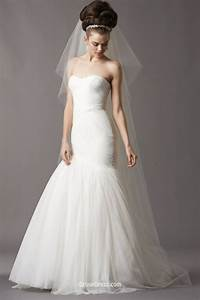 mermaid strapless sculpted neck asymmetrically draped drop With drop waist wedding dresses