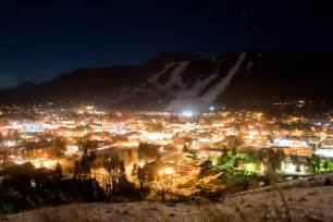 Wyoming Jackson Hole Downtown Night