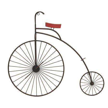 Fixa bike shelf doubles as a table with storage. Three Hands Metal Bike Wall Decor - Walmart.com