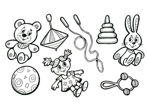Toys coloring pages to download and print for free