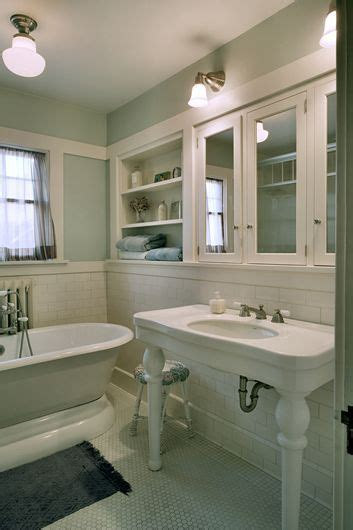 Craftsman Style Bathroom Fixtures by Bathroom With Original Fixtures And Reproduction Lighting