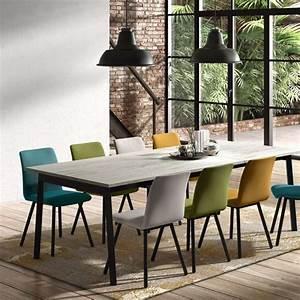 Table A Rallonge Pour 16 Personnes : table avec allonge en stratifi et m tal victoria 4 ~ Teatrodelosmanantiales.com Idées de Décoration