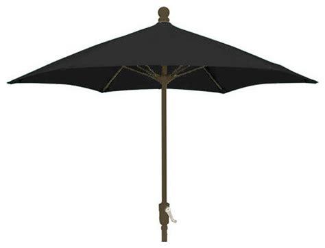 7 5 foot hexagonal black outdoor patio umbrella with ch