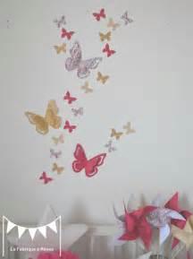 deco chambre fille papillon