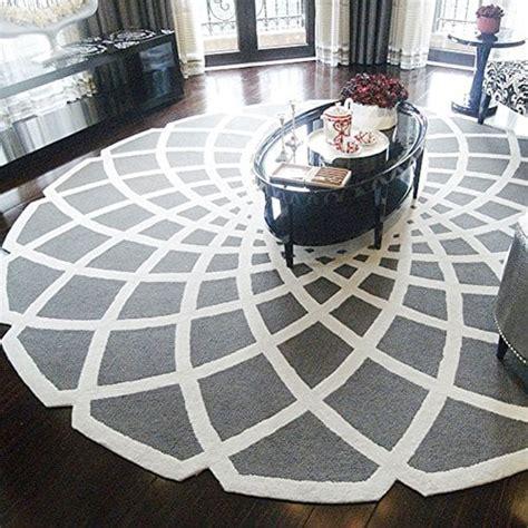 laine fait main ronde tapis tapis de salon table basse