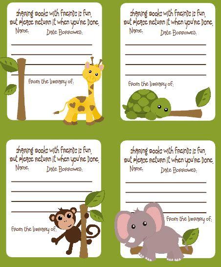 Jungle Animal Print Name Tags