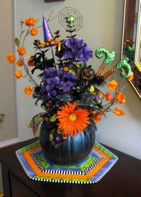ideas  halloween floral arrangements