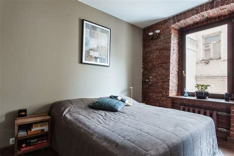 studio apartment stays authentic  keeping  brick