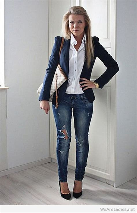 25 fantastic white jacket black pants women