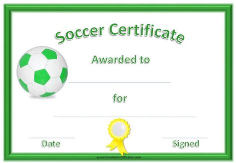Soccer Award Certificate Templates Free by Free Editable Soccer Certificates Customize