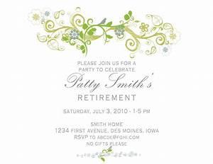 Retirement invitation card invitation templates for Free templates for retirement invitations