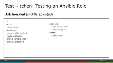 Testdriven Infrastructure With Ansible, Test Kitchen