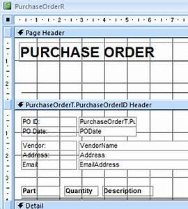 microsoft access 329 purchase orders receiving inventory With access order form template