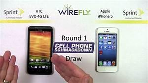 Sprint Htc Evo 4g Lte Vs Apple Iphone 5 Smartphone