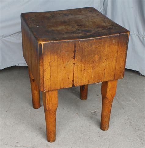 Bargain John's Antiques  Antique Maple Butcher Meat Block