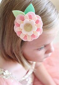Make Felt Flower Hair Clips