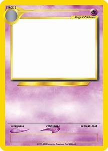 blank pokemon card template images pokemon images With pokemon templates print