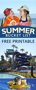 Summer Bucket List free printable for kids