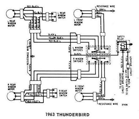 windows wiring diagram for 1963 ford thunderbird all about wiring diagrams