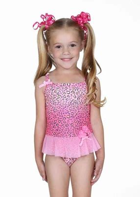 hula star pink spotted leopard tulle skirted  piece