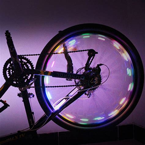 wheel led lights intelligent bicycle wheel light bike cycling lights