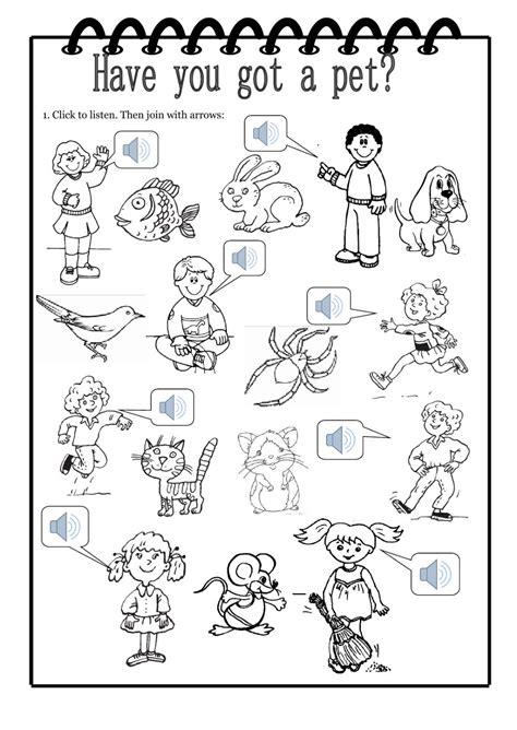 pet interactive worksheet
