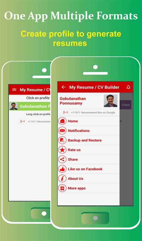 my resume builder cv free android apps on play