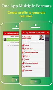 My resume buildercv free jobs android apps on google play for Best resume builder app