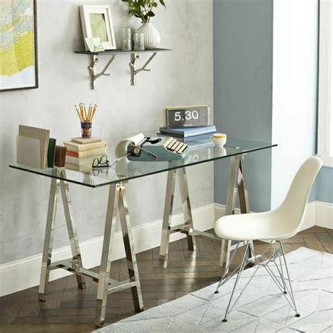 bureau verre et acier le plateau de bureau en verre pour votre office à la